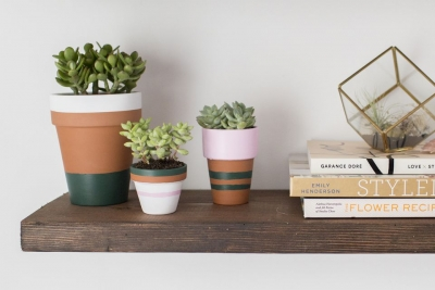 DIY Painted Terracotta Flower Pots